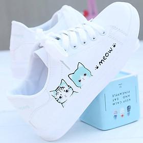 Giày thể thao trắng siêu nhẹ thoải mái cho nữ
