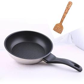 Chảo chống dính Fivestar 3 đáy , inox 430, tặng 1 sạn dừa, dùng được bếp từ , gas, hồng ngoại