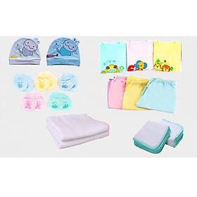 Set 30 món đồ dùng cotton cao cấp cho bé sơ sinh từ 0- 3 tháng