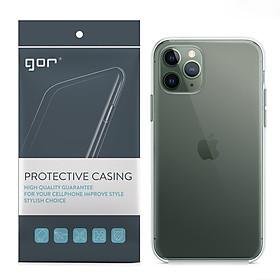 Ốp Lưng Silicon TPU trong suốt GOR iPhone 11/ 11 Pro/ 11 Pro Max_Hàng Nhập Khẩu
