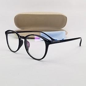 Gọng kính nữ - nam tròn màu đen, nâu, hồng nhựa dẻo SA2425. Tròng kính giả cận 0 độ chống nắng, chống tia UV