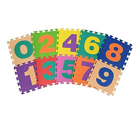 Bộ 10 chữ số Thảm xốp lót sàn an toàn Thoại Tân Thành (30x30cm)