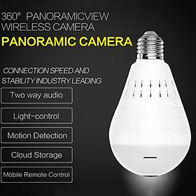 960P WiFi Wireless Panoramic Fisheye Bulb Spy Camera 16 GB Micro SD Card