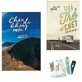 Combo 2 Cuốn: Chân Đi Không Mỏi - Hành Trình Đông Nam Á + Qúa Trẻ Để Chết - Hành Trình Nước Mỹ - Tặng Kèm Bookmark AHA