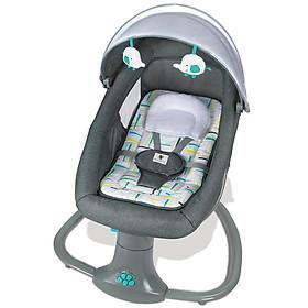 Nôi đưa đa năng cao cấp kết nối Bluetooth, có điều khiển từ xa ru ngủ thư giãn kết hợp ghế ngồi đọc sách cho bé Mastela 8105 - Xanh Xám