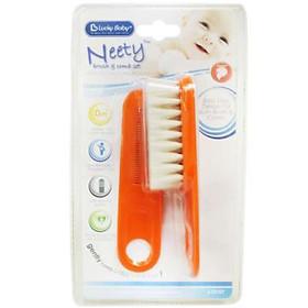 Bộ 2 lược cho bé Neety Brush & Comb Set Lucky Baby