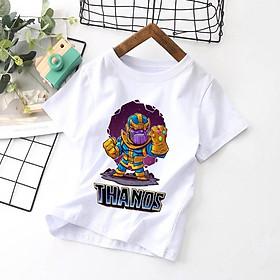 Áo Thun Trẻ Em In Thanos ATE09 - Size 6kg Đến 35kg - Chất Mềm Mịn - Form Basic Bé Trai Gái Mặc Được