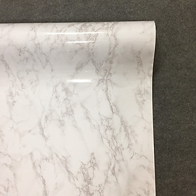 Decal vân đá hoa cương màu trắng - Giấy dán tường bàn tủ bếp có sẵn keo ( khổ 1,2m - Mẫu D1 )