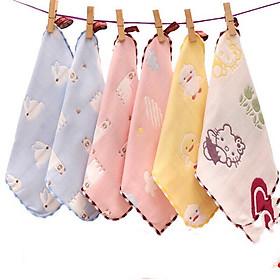 Set 5 khăn mặt sợi tre cực dày, mềm, đẹp cho bé sơ sinh đén 24 tháng