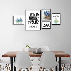 Tranh treo tường, tranh canvas TB29 bộ 5 tấm