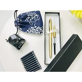 Bút lông luyện viết chữ Hán, chữ Khải hiện đại, luyện thư pháp - 1 hộp 2 ngòi (ngòi lông + ngòi máy)