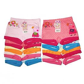 Hình đại diện sản phẩm Combo 10 quần chíp đùi cho bé gái - Giao màu ngẫu nhiên