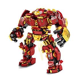 Lắp Ráp Xếp Hình Mô Hình  Marvel Robot Hulkbuster Iron Man Super  Heroes 650 Khối LY76015