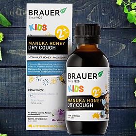 Hỗ Trợ Chữa Ho Cho Trẻ Brauer Kids Manuka Honey Dry Cough Chứa Các Thành Phần Thảo Dược Làm Giảm Các Cơn Ho Là Cách Hỗ Trợ Chữa Ho Cho Bé Hiệu Quả Lọ 100ml