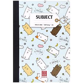 Sổ Subiect Kẻ Ngang A4 - 200 Trang - Hồng Hà 4586 - Màu Xanh Da Trời