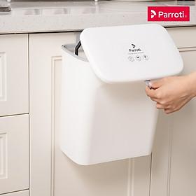 Thùng rác treo tủ bếp có nắp đậy thông minh, thùng rác treo tường dán tường, có thanh trượt cửa bếp – Parroti Bin BN01/BIN01