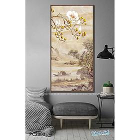 Tranh Canvas Phong Cảnh Hoa Mộc Lan Trắng