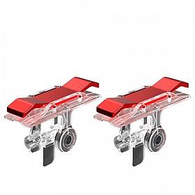 Bộ 2 Nút Chơi Game Pubg Mobile, Ros, Cf Dòng E9 Trong Suốt (Đỏ Hoặc Bạc)