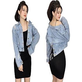 Áo khoác jean nữ cá tính