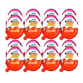 Lốc 24 quả Trứng Chocolate Kinder Joy For Girls 20gr (Kèm đồ chơi bé gái)