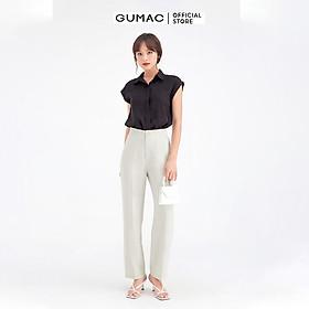 Quần tây nữ cơ bản ống suông GUMAC QB666