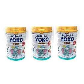 BỘ 3 LON SỮA BỘT GOLD YOKO 3 VINAMILK 850G ̣̣DÀNH CHO BÉ TỪ 2 - 6 Tuổi