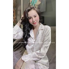 Đồ Bộ Pijama Nữ Đồ Bộ Mặc Nhà Nữ  Quần Dài Chất SATIN Cao Cấp, Không Nhăn Form<60kg Vừa Đẹp