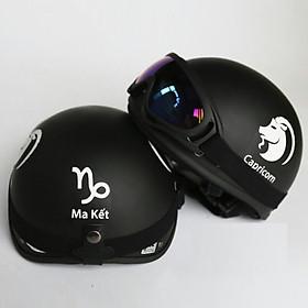Mũ Bảo Hiểm Cung Hoàng Đạo + Tặng kính UV chống bụi cao cấp màu ngẫu nhiên