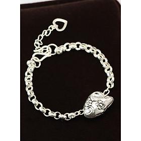 Lắc tay bạc cho bé trai, bé gái, tuổi tý, tuổi con chuột LTT0014
