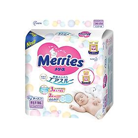 Tã/Bỉm Dán Merries Size SS 90 miếng (dành cho bé sơ sinh - 5 kg)