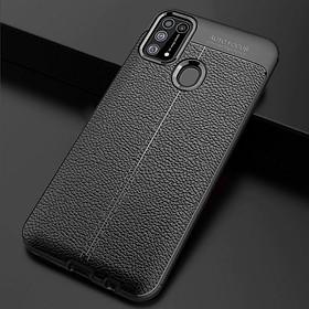 Ốp lưng silicon dẻo giả da Auto Focus cao cấp dành cho Samsung Galaxy M31 - Hàng chính hãng