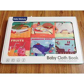 Sách vải - Sách vải set 6 quyển cho các bé sơ sinh từ 0m+