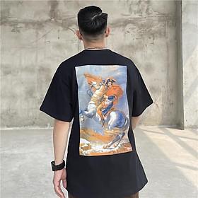 Áo thun tay lỡ cưỡi ngựa , áo phông cotton cao cấp