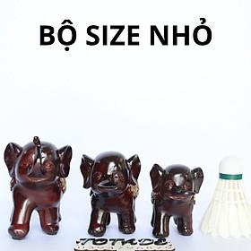 Bộ tượng gia đình voi hạnh phúc - Sản phẩm decor đẹp có 2 size - DES0006