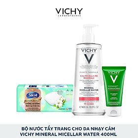 Bộ Nước Tẩy Trang Chuyên Sâu Dành Cho Da Nhạy Cảm Vichy Mineral Micellar Water 400Ml