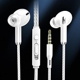 Tai nghe S21, tai nghe có dây nhét tai âm thanh HiFi siêu bass, chân cắm tròn 3.5mm phù hợp với nhiều dòng điện thoại khác nhau