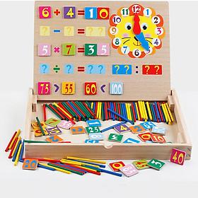 Đồ chơi gỗ Bảng nam châm học phép toán và que tính - HG2034