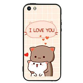 Ốp lưng viền TPU cho điện thoại Iphone 5 - I Love U