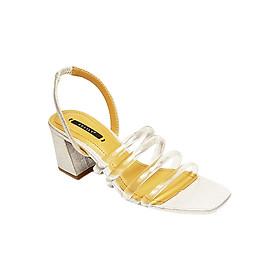 Giày Sandal Gót Vuông Dây Trong Phối Ánh Kim Sulily SGV1-II17BAC