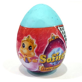Safiras IV - Trứng Rồng Siêu Nhắng - Công Chúa Rồng Trong Trứng (4 cm) - Xanh Biển