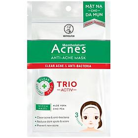 Mặt Nạ Chuyên Biệt Cho Da Mụn Acnes Anti-Acne Mask (3 Miếng)