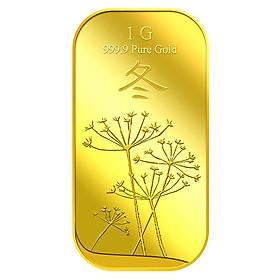 Miếng Vàng Tượng Trưng Cho Mùa Đông 1G - Vàng 999.9