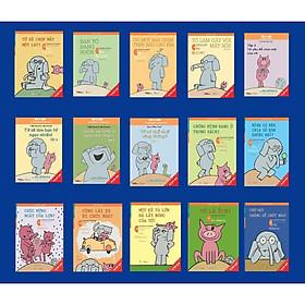 Sách - Song ngữ Voi & Lợn 15 cuốn (tập 2 - tập 16) tặng bộ thẻ nhân vật tô màu ngộ nghĩnh