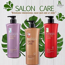Bộ dầu gội xả Kerasys Salon Care Nutritive - Dành cho tóc hư tổn Hàn Quốc 600ml tặng kèm móc khoá-6
