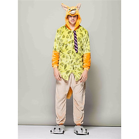 Hình đại diện sản phẩm Fox Nick Design Onesies Unisex Pajamas Set Men Animal Cartoon Cosplay Costume Sleepwear HML-008