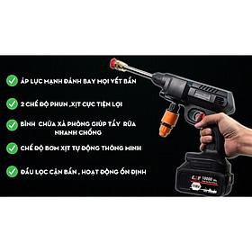 Máy rửa xe cầm tay dùng pin Hitachi 118V - Áp lực mạnh mẽ, pin sạc bền bỉ - Đa chức năng, dễ sử dụng - 3 chế độ phun rửa - Chuyên sử dụng vệ sinh ô tô, xe máy, vật dụng gia đình, tưới hoa màu - Hàng nhập khẩu