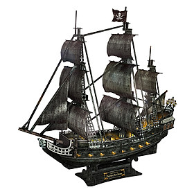 Mô Hình Giấy Cubic Fun Tàu Queen Anne'S Revenge (Đèn) L520H