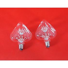 Bộ 2 bóng đèn led trang trí hình trái tim, đèn trang trí độc đáo hàng chính hãng