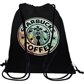 Túi Dây Rút Unisex In Hình Starbucks Coffee - BDTE151