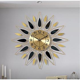 Đồng hồ treo tường hợp kim sơn tĩnh điện tạo hình bông hoa mang tính nghệ thuật dùng để trang trí nhà mang phong cách hiện đại và tân cổ điển